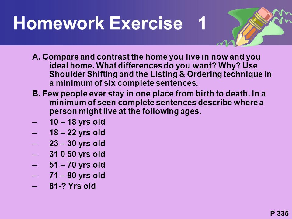 Homework Exercise 1