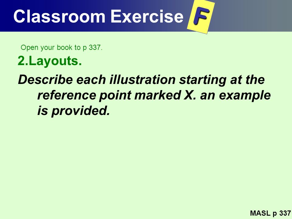 F Classroom Exercise 2.Layouts.