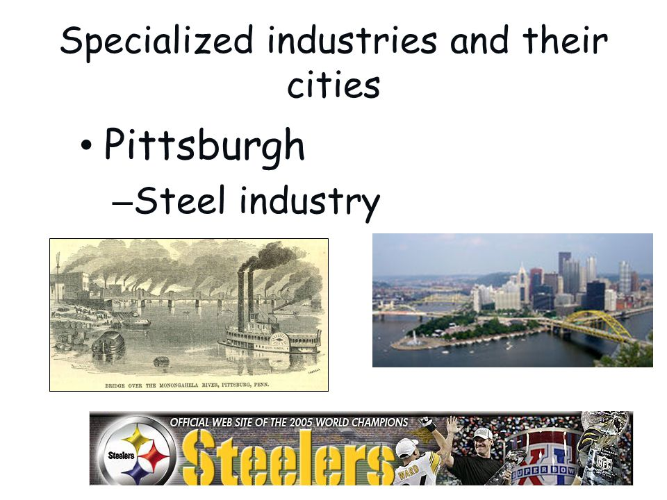 Specialized industries and their cities