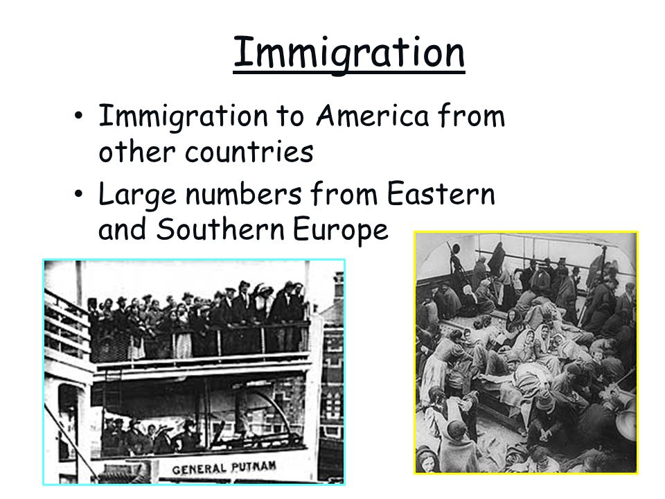 Immigration Immigration to America from other countries