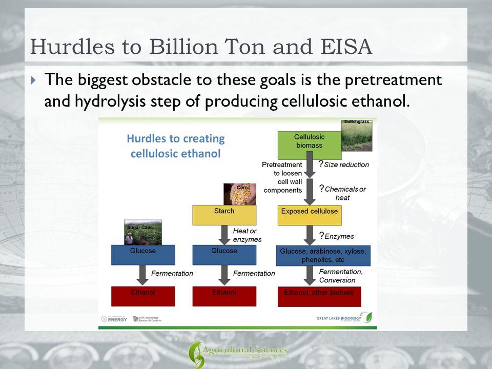 Hurdles to Billion Ton and EISA