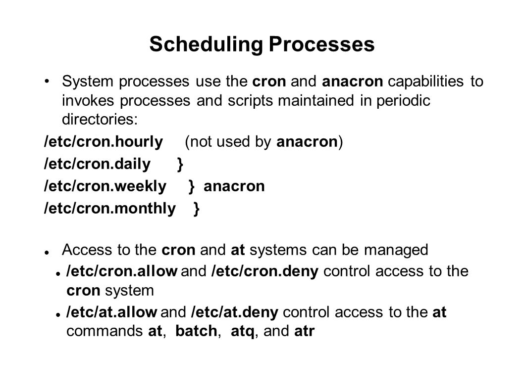 09/23/11 Scheduling Processes.