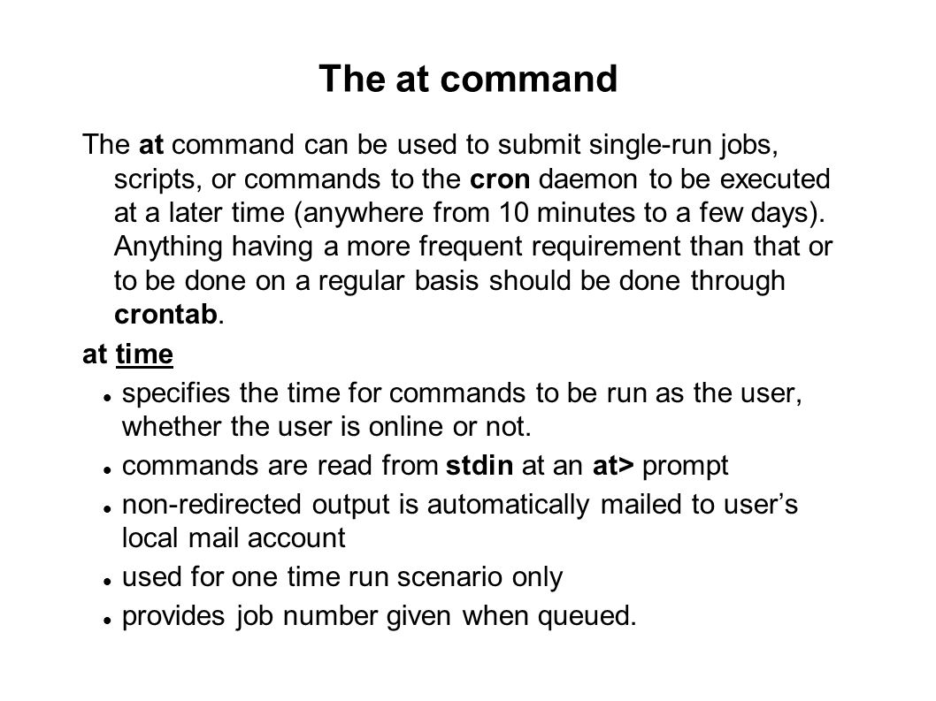 09/23/11 The at command.