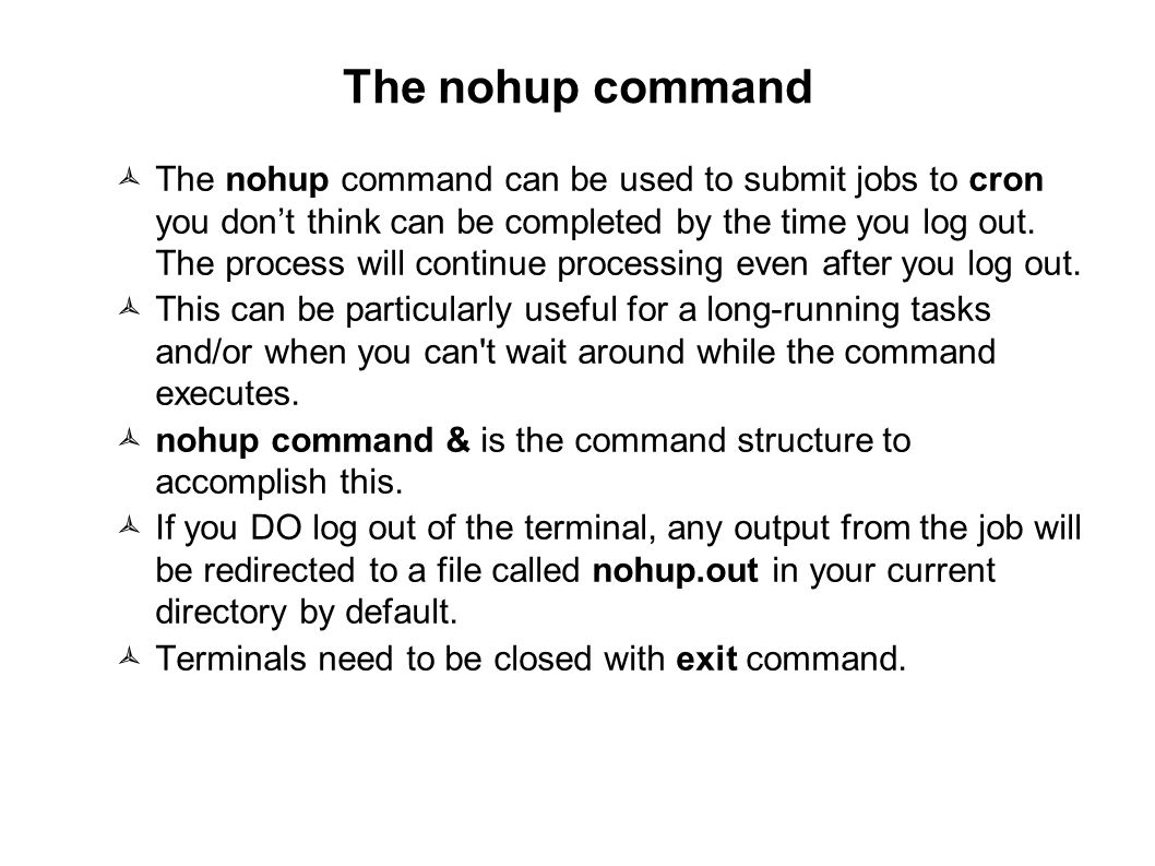 09/23/11 The nohup command.