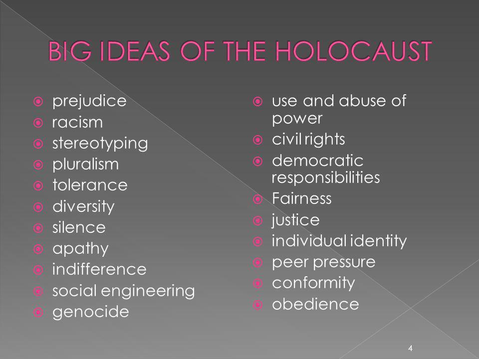 BIG IDEAS OF THE HOLOCAUST