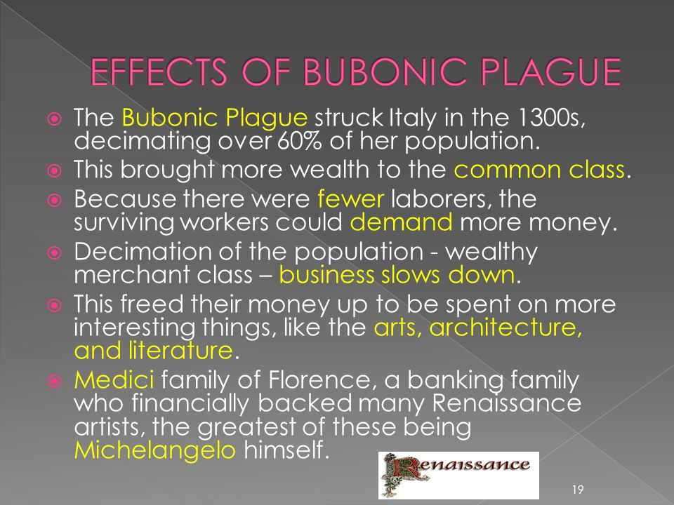 EFFECTS OF BUBONIC PLAGUE