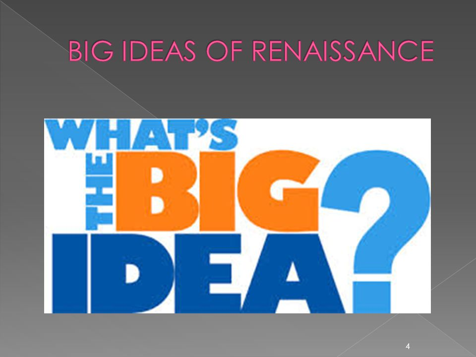 BIG IDEAS OF RENAISSANCE