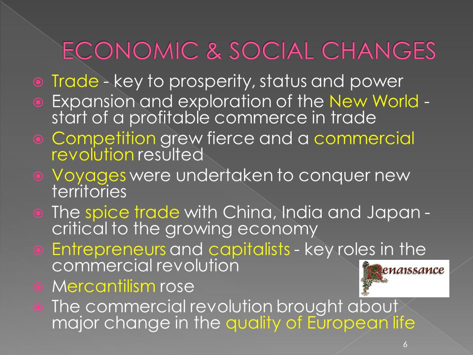ECONOMIC & SOCIAL CHANGES