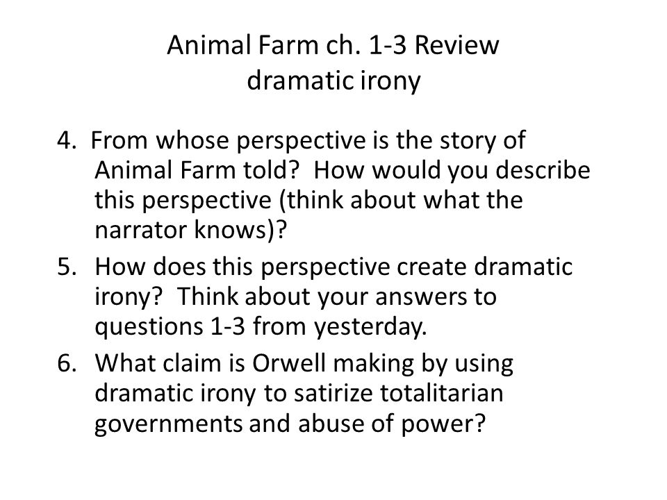 animal farm review Get free homework help on george orwell's animal farm: book summary, chapter summary and analysis, quotes, essays, and character analysis courtesy of cliffsnotes animal farm is george orwell's satire on equality, where all barnyard animals live free from their human masters' tyranny inspired to rebel by major, an old boar, animals on mr jones' manor farm embrace animalism and stage a.