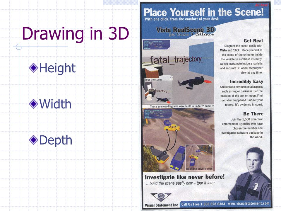 Drawing in 3D Height Width Depth