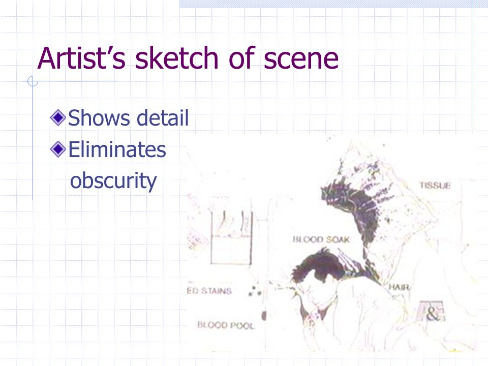 Artist's sketch of scene