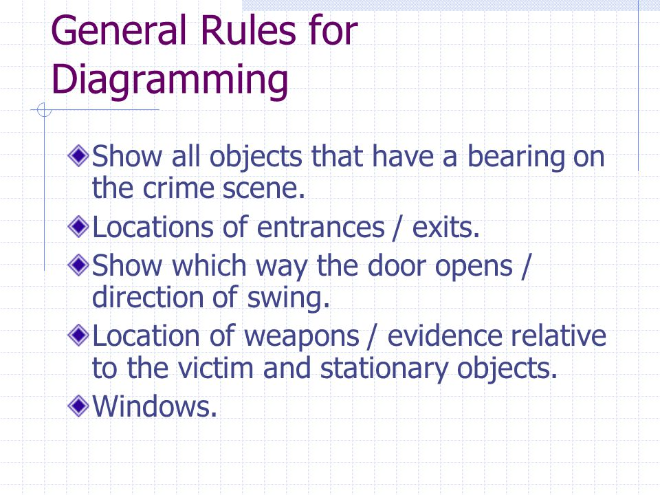 General Rules for Diagramming