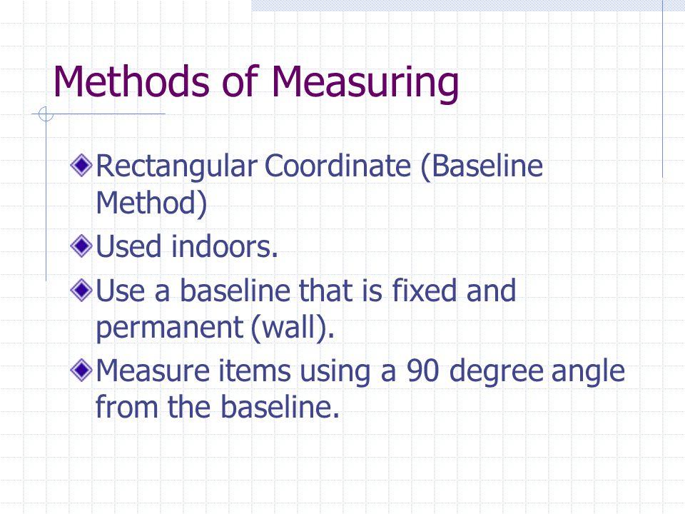 Methods of Measuring Rectangular Coordinate (Baseline Method)
