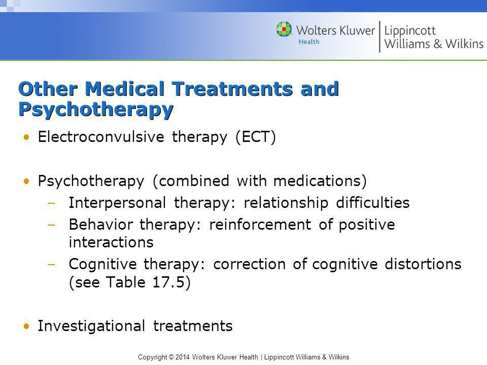 Other Medical Treatments and Psychotherapy