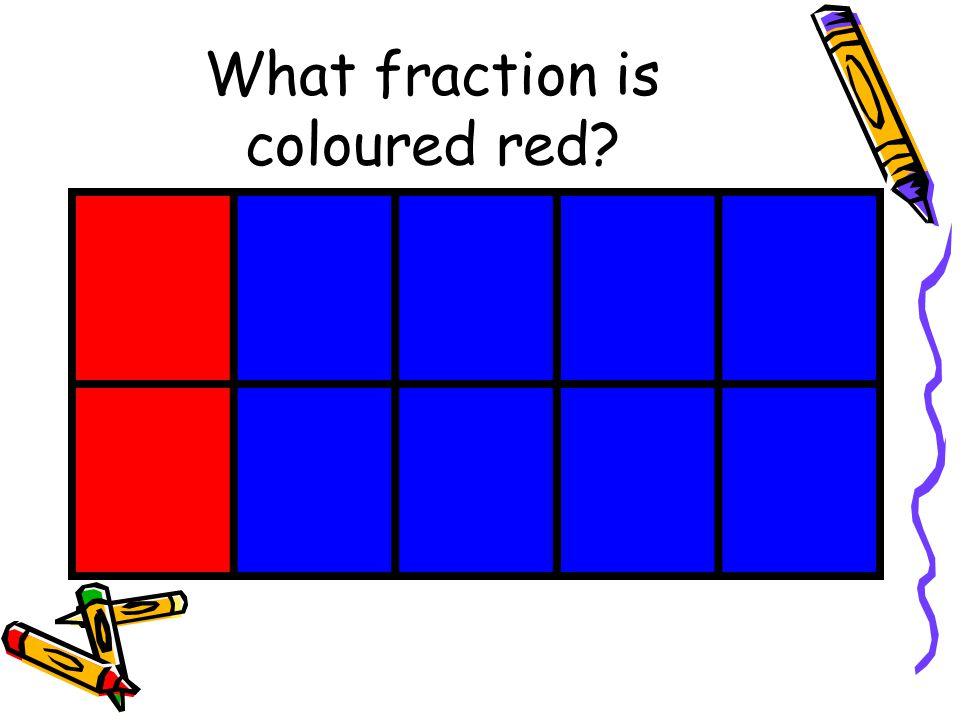 What fraction is coloured red