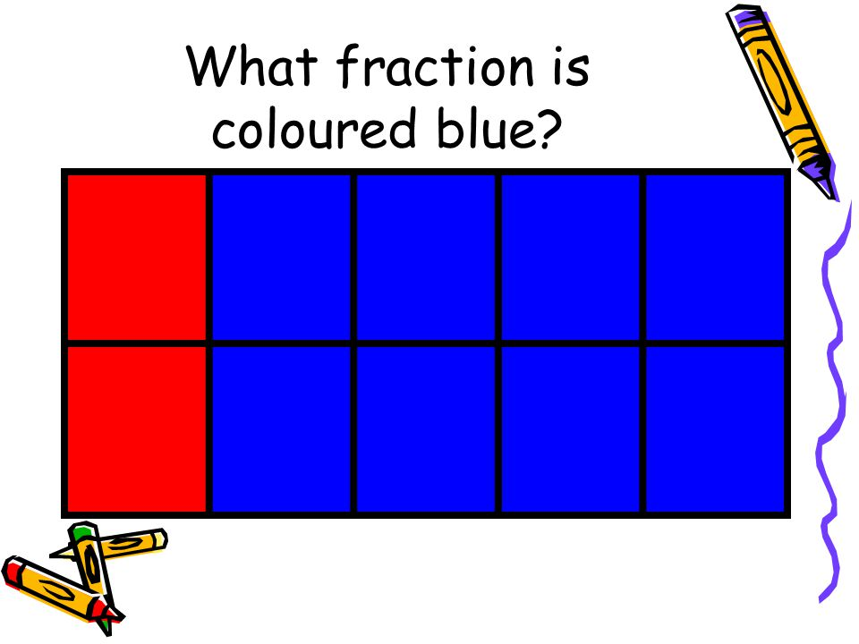What fraction is coloured blue
