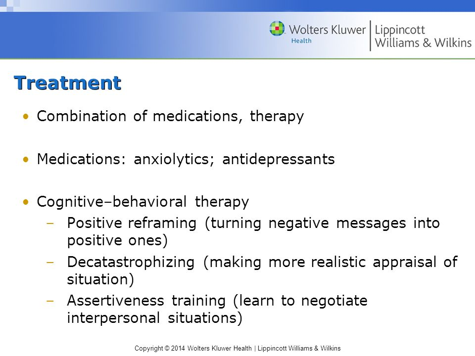 Treatment Combination of medications, therapy