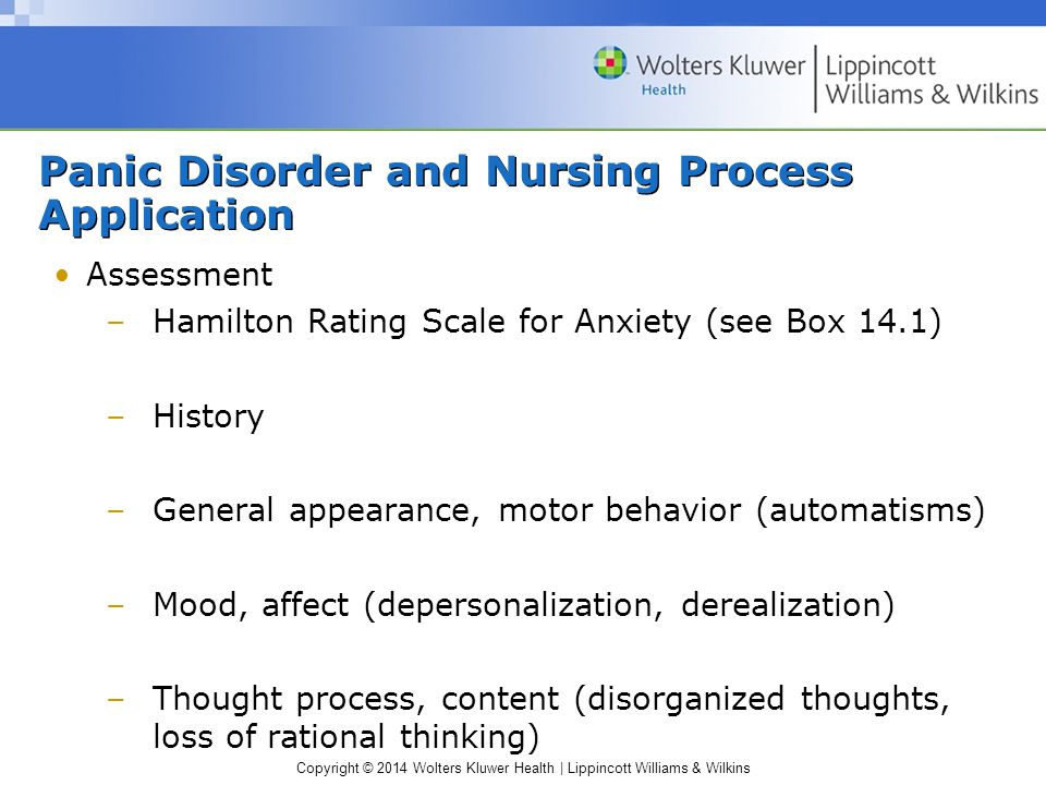 Panic Disorder and Nursing Process Application