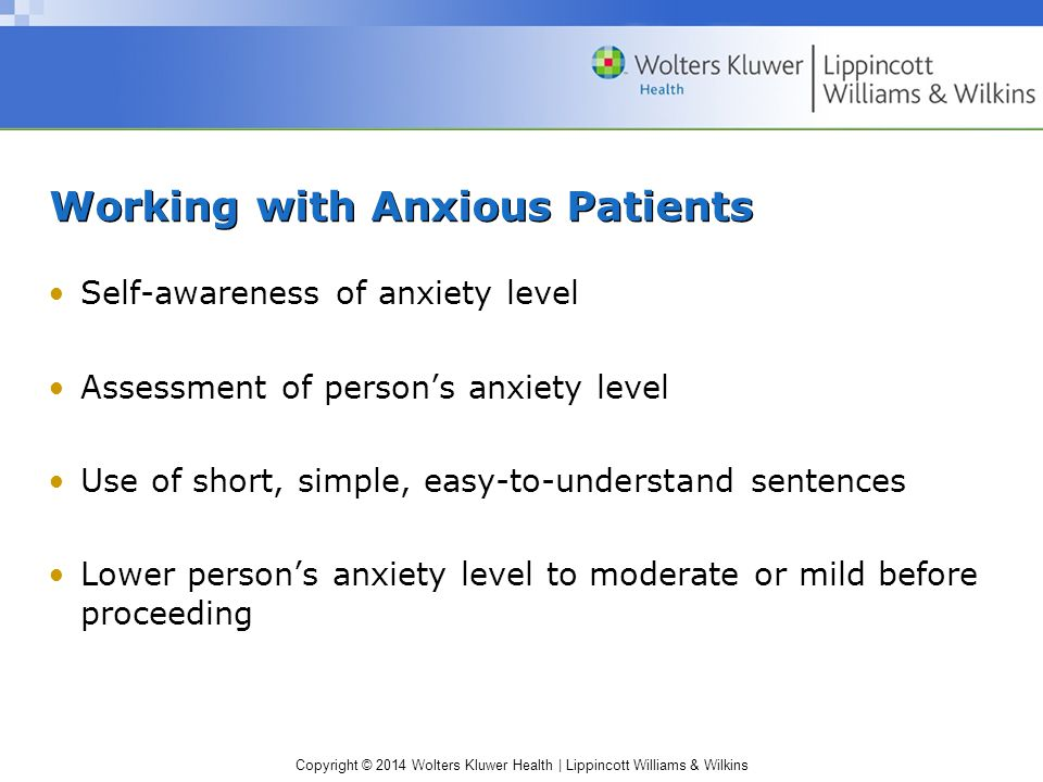 Working with Anxious Patients