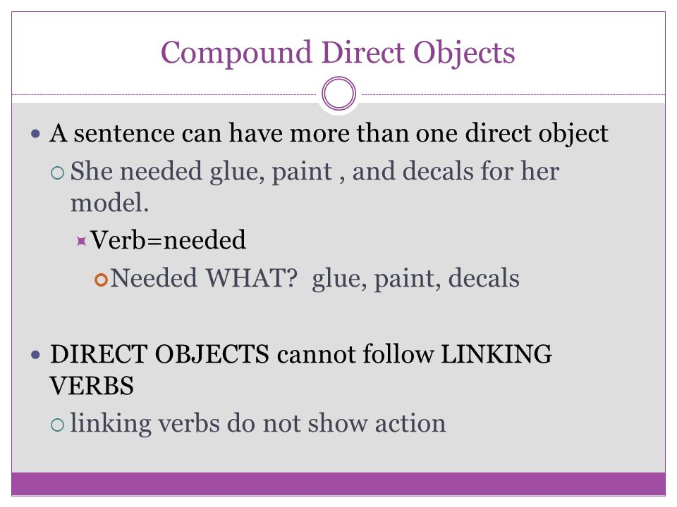 Compound Direct Objects