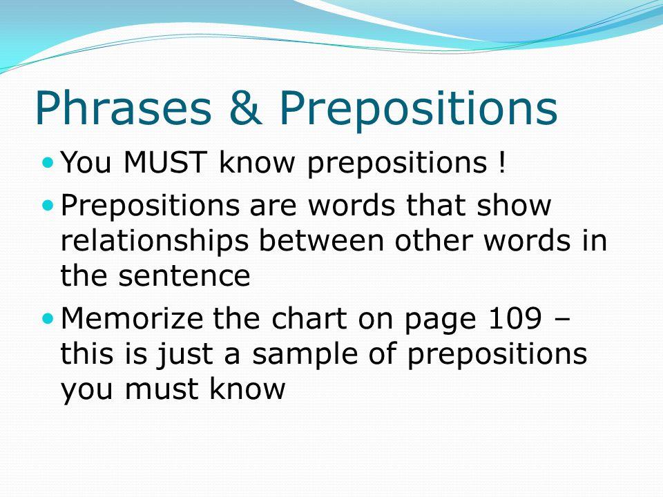 Phrases & Prepositions