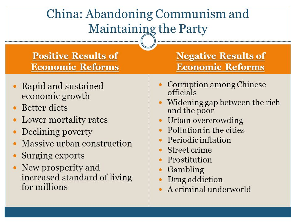 China: Abandoning Communism and Maintaining the Party