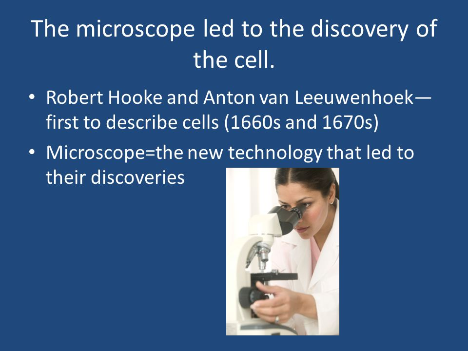 The microscope led to the discovery of the cell.