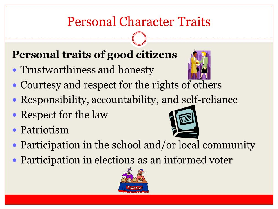 Personal Character Traits