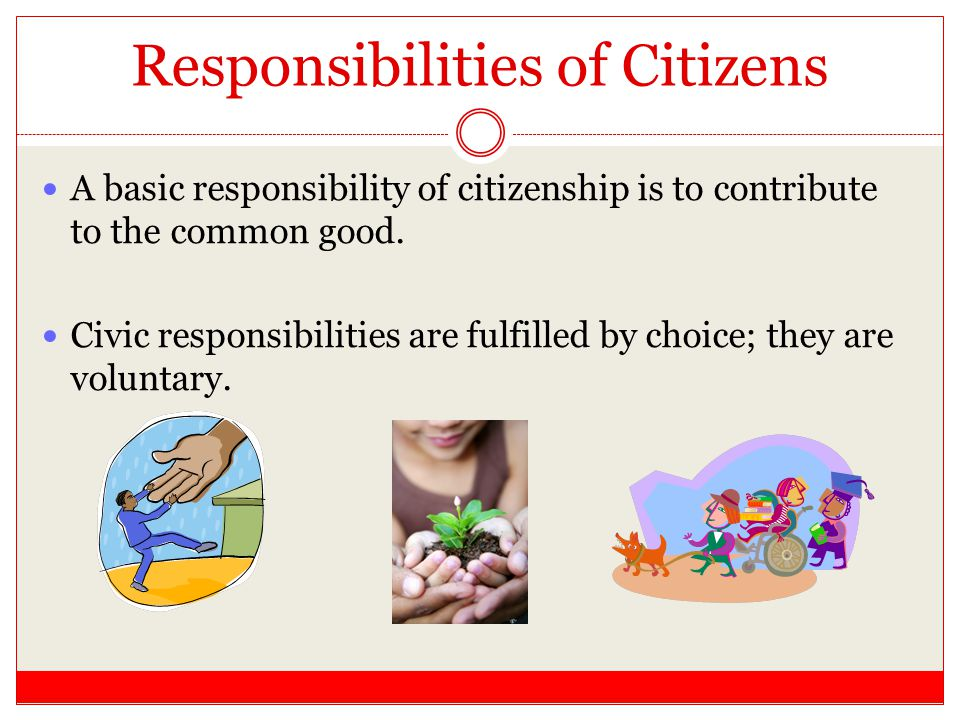 Responsibilities of Citizens