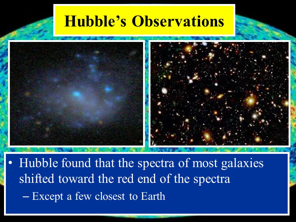 Hubble's Observations