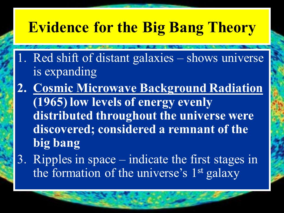 Evidence for the Big Bang Theory
