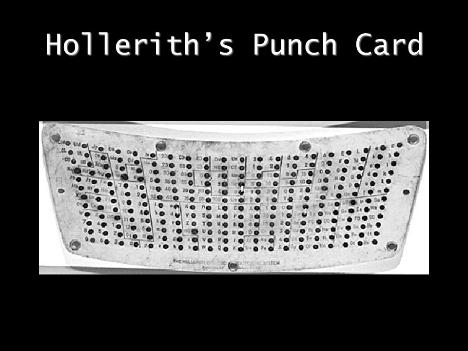 Hollerith's Punch Card