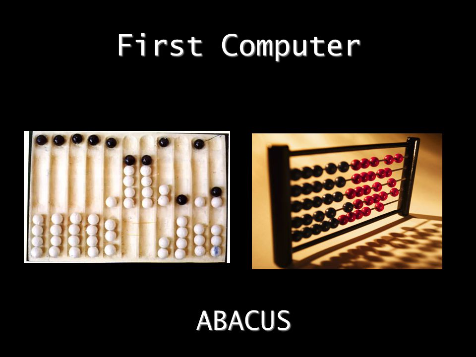 First Computer ABACUS
