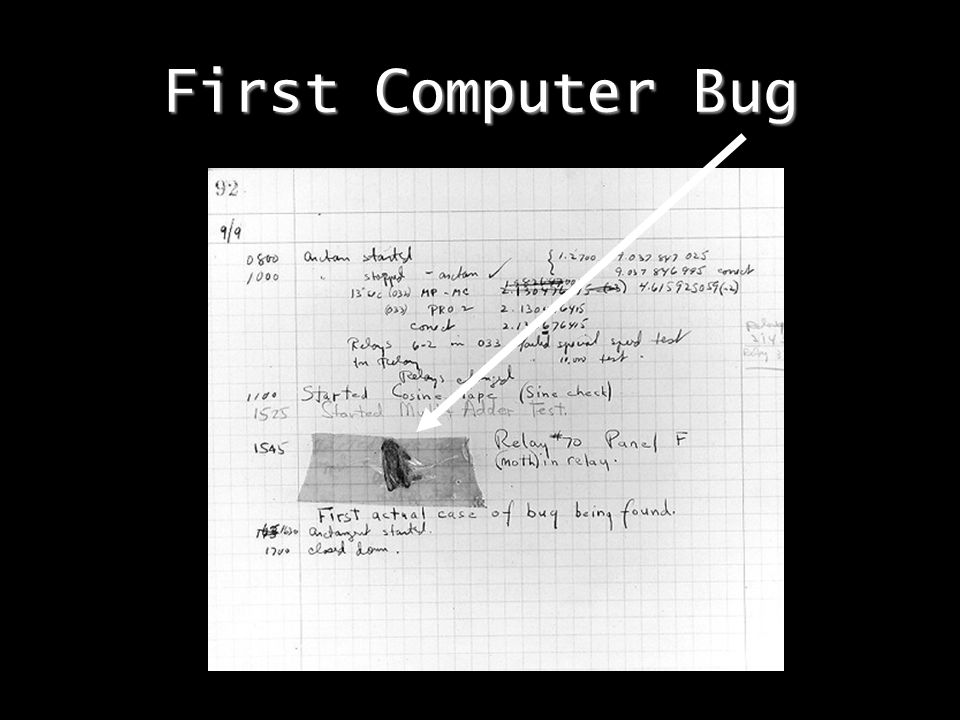 First Computer Bug