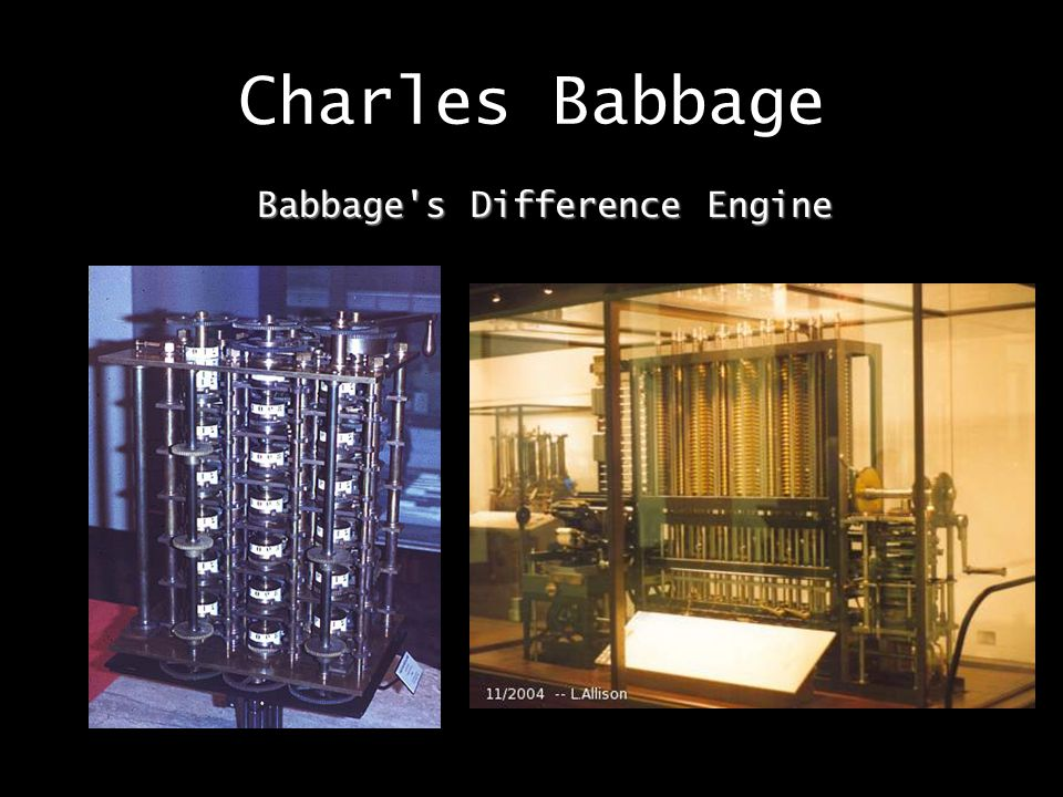 Babbage s Difference Engine