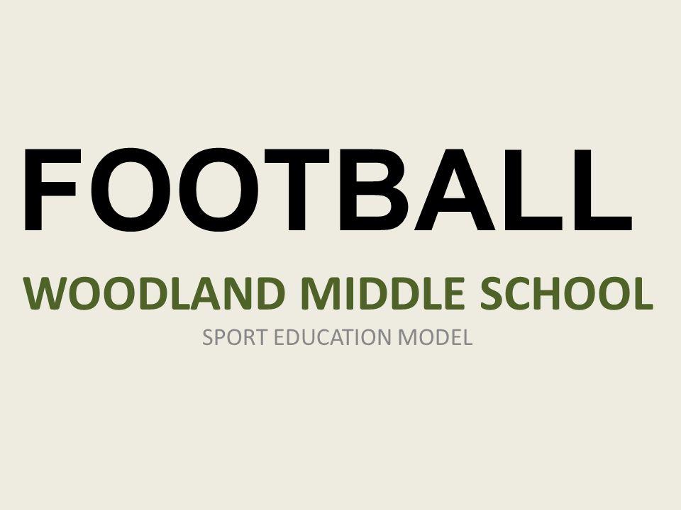 WOODLAND MIDDLE SCHOOL SPORT EDUCATION MODEL