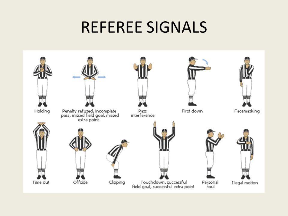 REFEREE SIGNALS