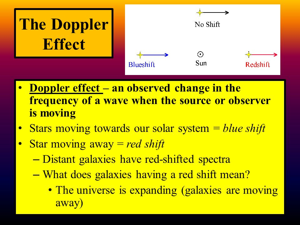 The Doppler Effect Doppler effect – an observed change in the frequency of a wave when the source or observer is moving.