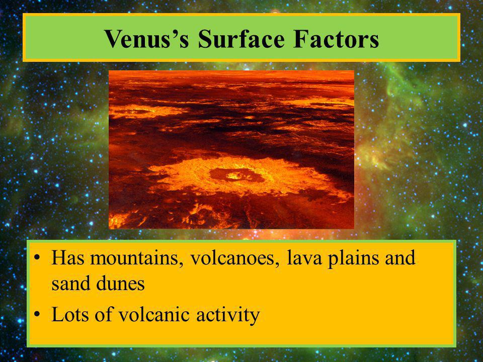 Venus's Surface Factors