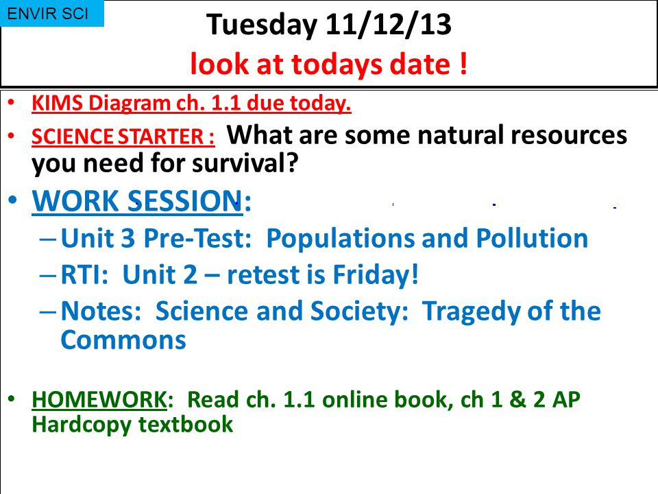 Tuesday 11/12/13 look at todays date !