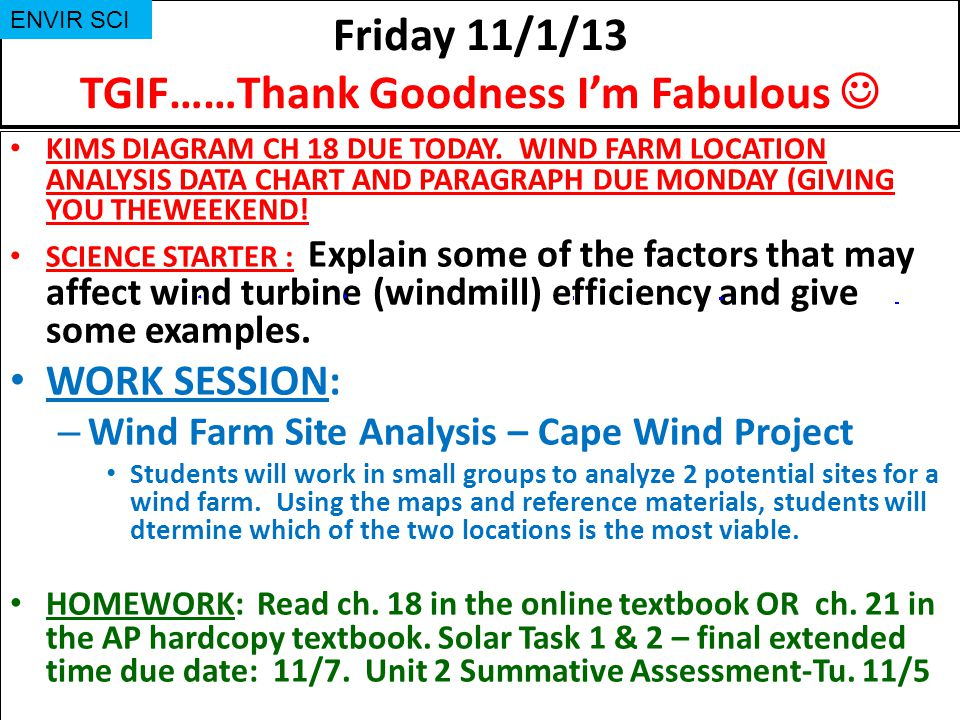 Friday 11/1/13 TGIF……Thank Goodness I'm Fabulous 