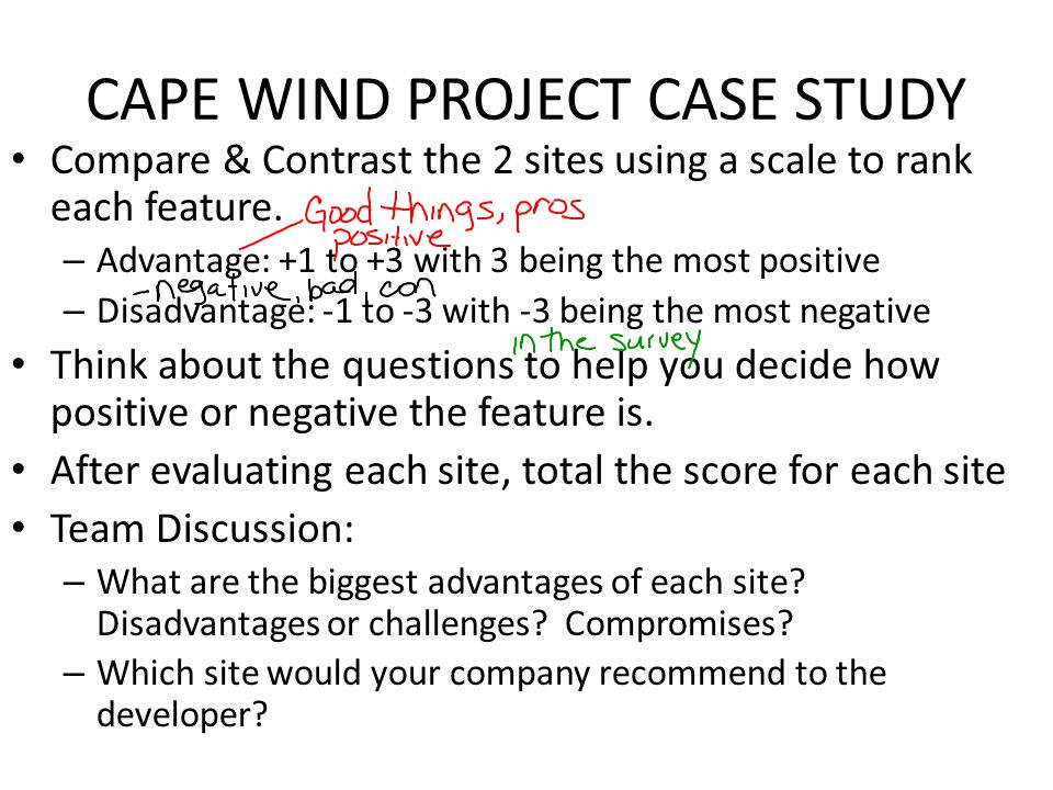 CAPE WIND PROJECT CASE STUDY