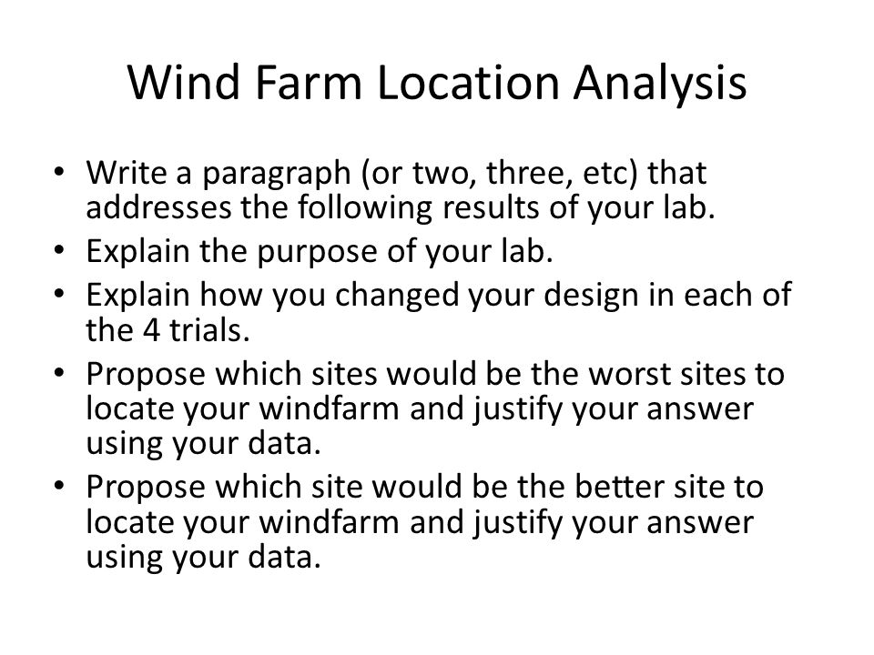 Wind Farm Location Analysis