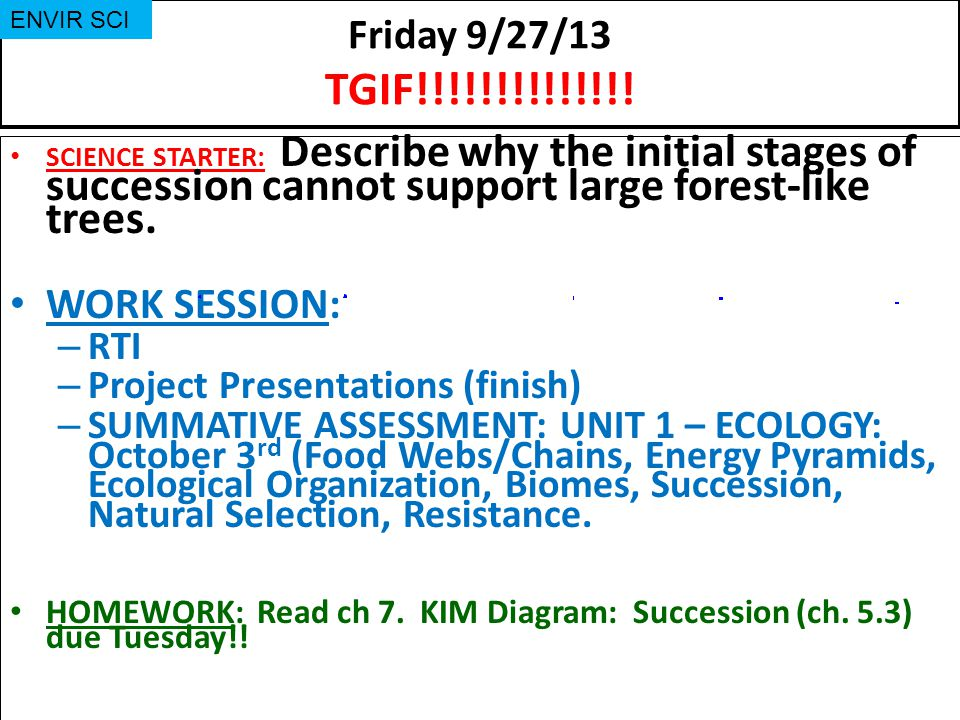 WORK SESSION: Friday 9/27/13 TGIF!!!!!!!!!!!!!! RTI