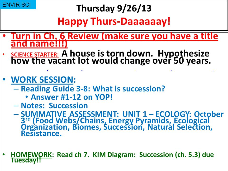 Thursday 9/26/13 Happy Thurs-Daaaaaay!