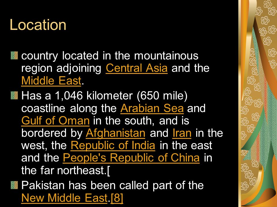 Location country located in the mountainous region adjoining Central Asia and the Middle East.