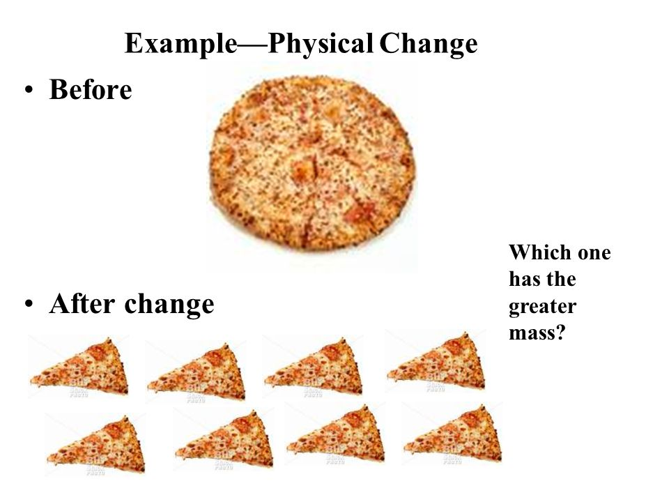 Example—Physical Change