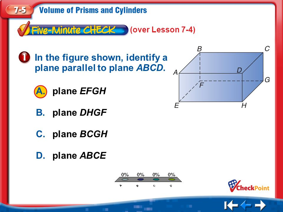 In the figure shown, identify a plane parallel to plane ABCD.