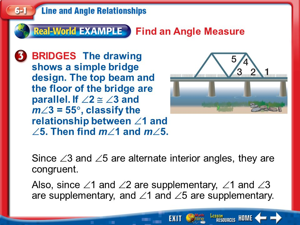Since 3 and 5 are alternate interior angles, they are congruent.