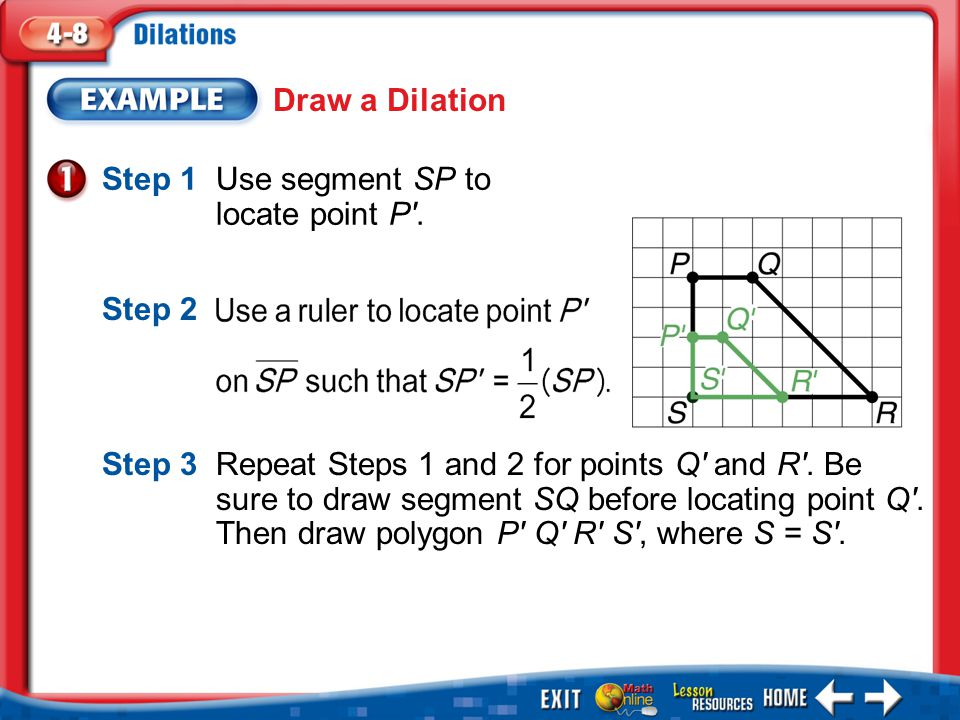 Step 1 Use segment SP to locate point P .